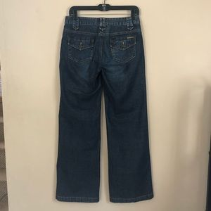 Michael Kors Wide Leg / Flare Dark Wash Jeans | 4